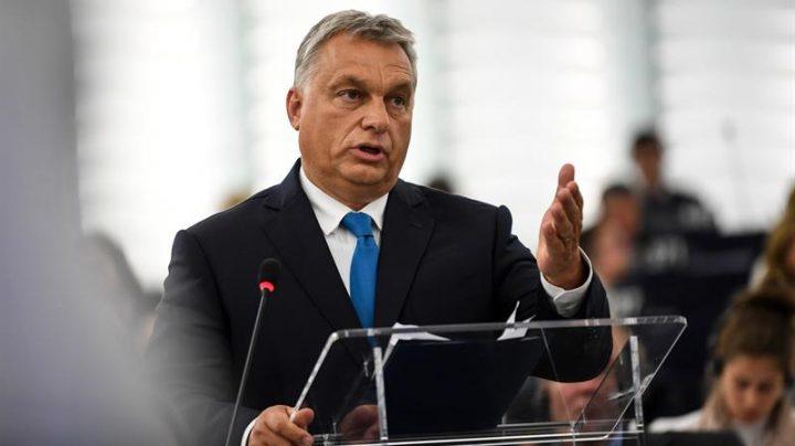 Viktor Orban, en el Parlamento Europeo.