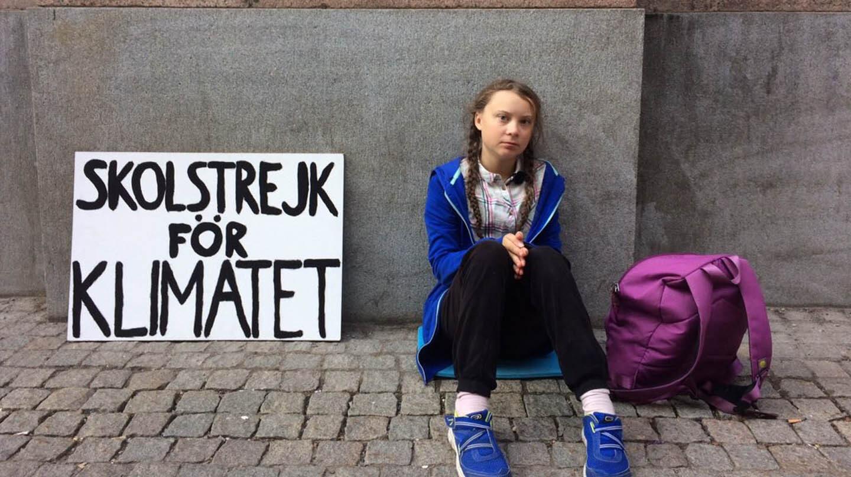Greta Thunberg, la niña sueca que denuncia el cambio climático.