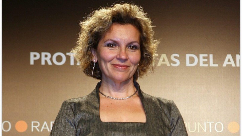 Isabel Cepeda, recogiendo un premio en 2008.