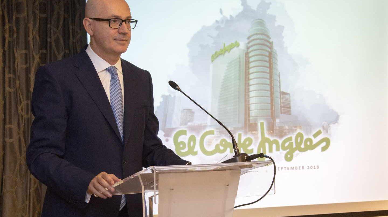 Jesús Nuño de la Rosa, presidente de El Corte Inglés en el roadshow de la emisión de bonos en Madrid.