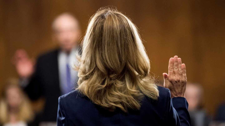 La doctora Ford, ante el Comité de Justicia del Senado de EEUU.