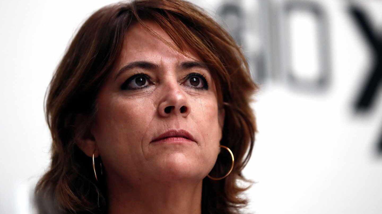 Dolores Delgado, ministra de Justicia, en el club Siglo XXI.