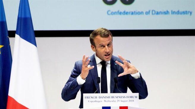 Emmanuel Macron en una conferencia reciente.