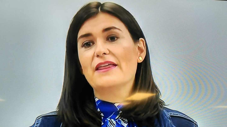 La ministra Carmen Montó, al anunciar su dimisión.