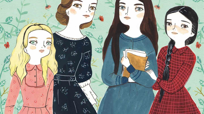 Portada de 'Mujercitas', de Louise May Alcott, ilustrada por María Hesse para Anagrama.