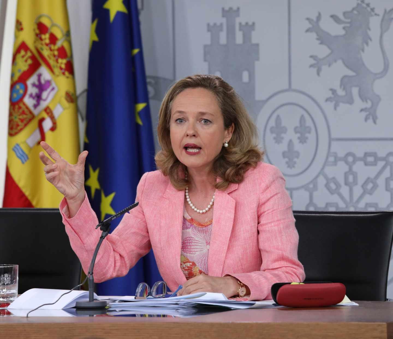 Nadia Calviño, Ministra de Economía, durante una rueda de prensa tras el Consejo de Ministros.