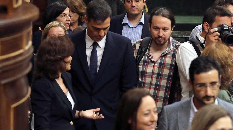 Pedro Sánchez y Pablo Igelsias