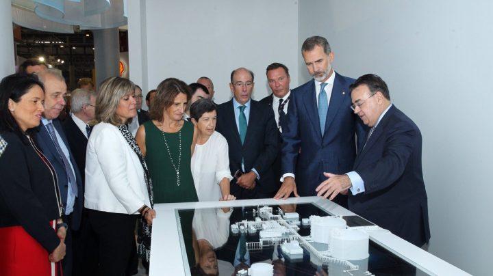 El Rey en la inauguración de la 30 edición de Gastech en Barcelona