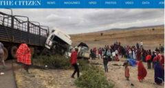 Imagen del siniestro, registrado en la zona de Arusha