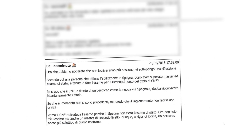Un joven italiano pregunta en un foro si el Consejo de la abogacía italiano podría reconocer el título obtenido en España