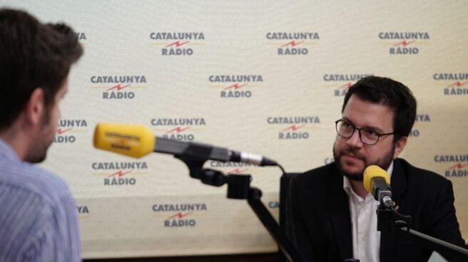 Pere Aragonès durante la entrevista en Catalunya Radio.