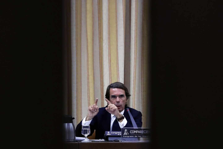José María Aznar, en su comparecencia en el Congreso de los Diputados.