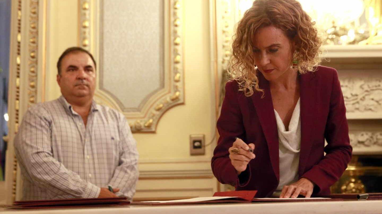 Meritxell Batet, en un acto oficial como ministra de Política Territorial y Función Pública.