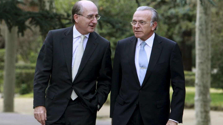 El presidente de Repsol Antonio Brufau y el de CriteriaCaixa Isidre Fain