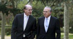 El presidente de Repsol, Antonio Brufau, y el de CriteriaCaixa, Isidre Fainé.
