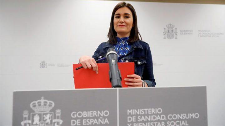 Carmen Montón, el día que anunció su dimisión como ministra de Sanidad.