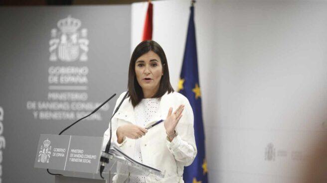Carmen Montón, dando expliaciones por su máster en la URJC cuando aún era ministra de Sanidad.