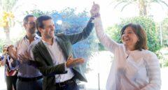Fotografía de archivo. Pablo Casado junto a Isabel Bonig.