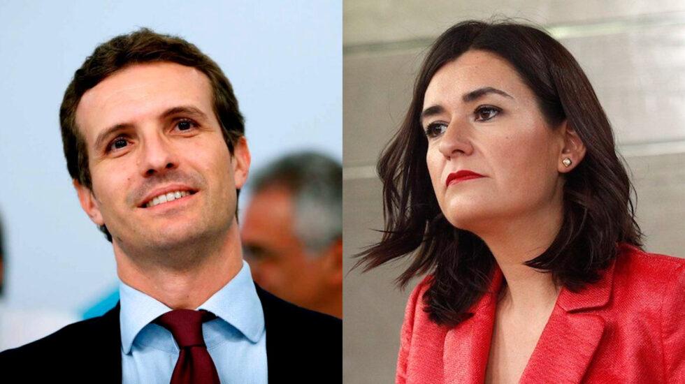 Pablo Casado y Carmen Montón