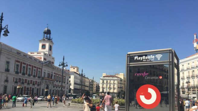 Acceso al Cercanías en la Puerta del Sol, en una tarde del pasado mes de agosto.