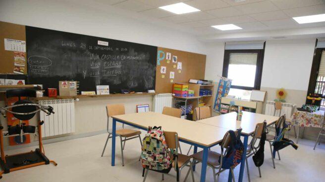 Una clase en un colegio ordinario.