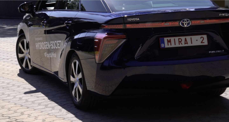 Toyota Mirai presentado en Madrid en septiembre de 2018