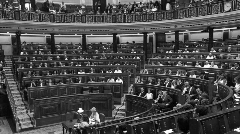 El hemiciclo del Congreso de los Diputados durante una sesión plenaria.