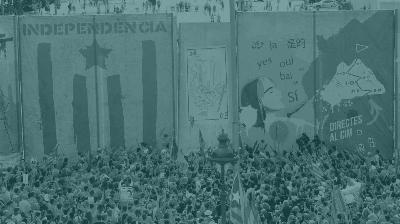 Manifestación de la Diada 2018.