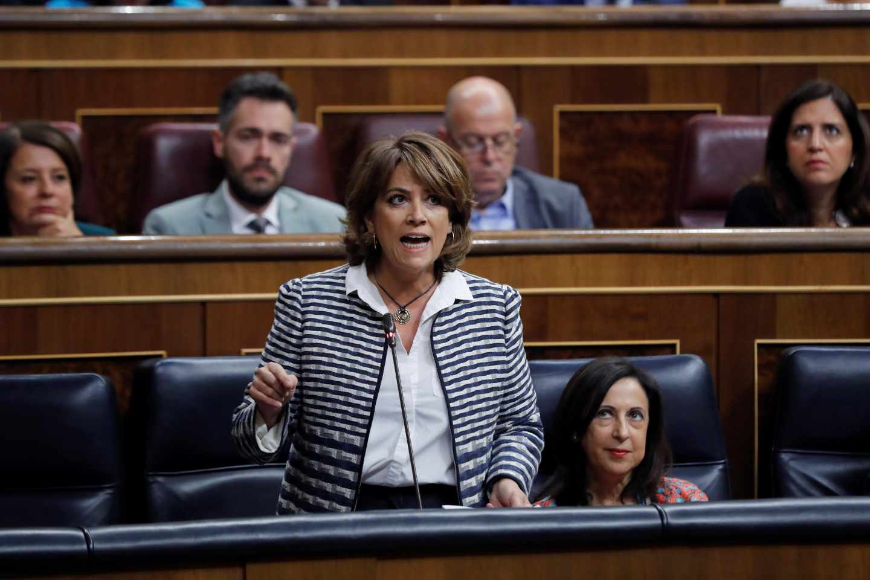 La ministra de Justicia, Dolores Delgado, en el Congreso de los Diputados.