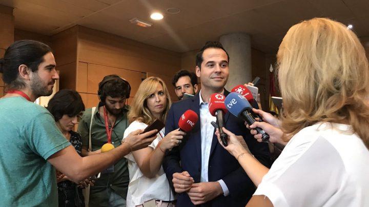 El portavoz de Cs en la Asamblea de Madrid, Ignacio Aguado.