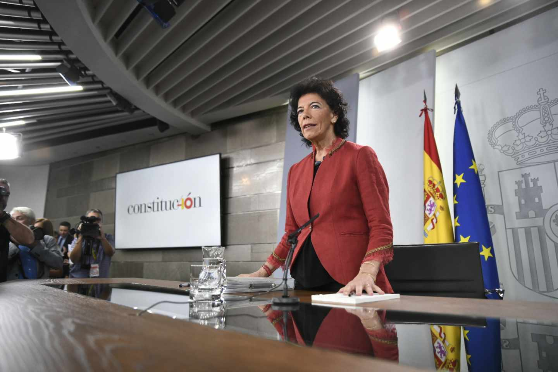 La portavoz ministra del Gobierno, Isabel Celaá.