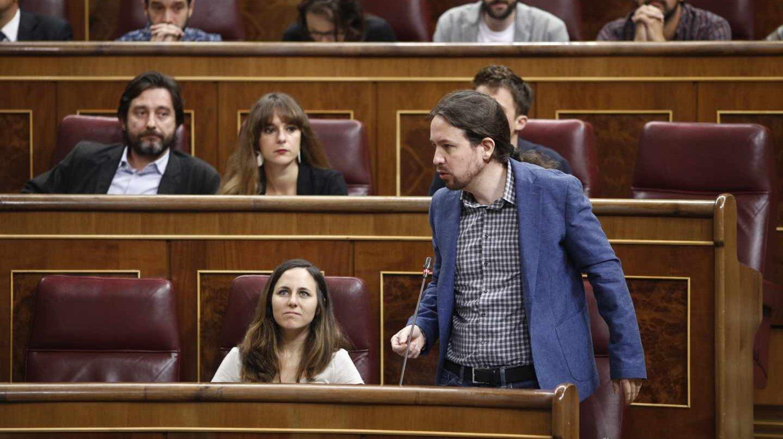 Iglesias se dirige al Congreso el pasado 12 de septiembre.