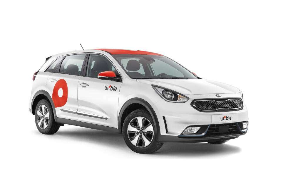 El car-sharing 'Wible' usa híbridos enchufables. Antes de dos años, KIA prevé sustituirlos por eléctricos 100%
