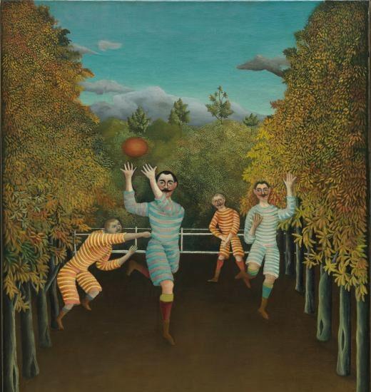 Los jugadores de fútbol. Henri Rousseau.