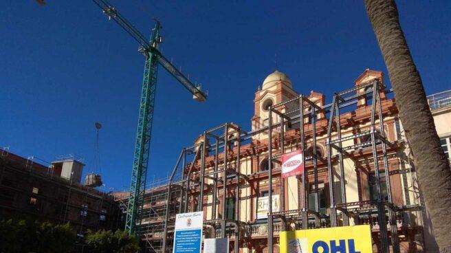Obras en la Plaza Vieja de Almería ejecutadas por OHL.