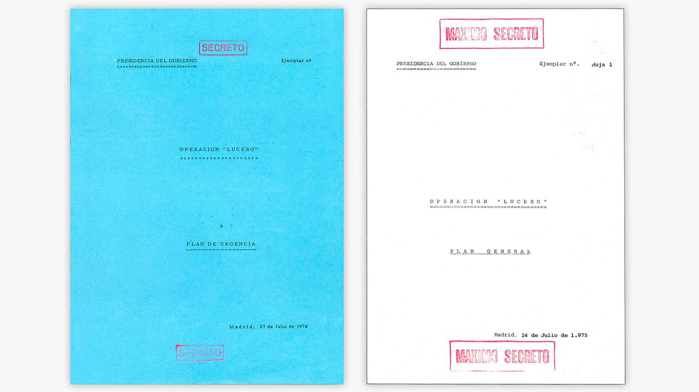 'Plan de urgencia' elevado por el SECED a la Presidencia del Gobierno el 27 de julio de 1974, cuando Franco estaba internado por una flebitis.