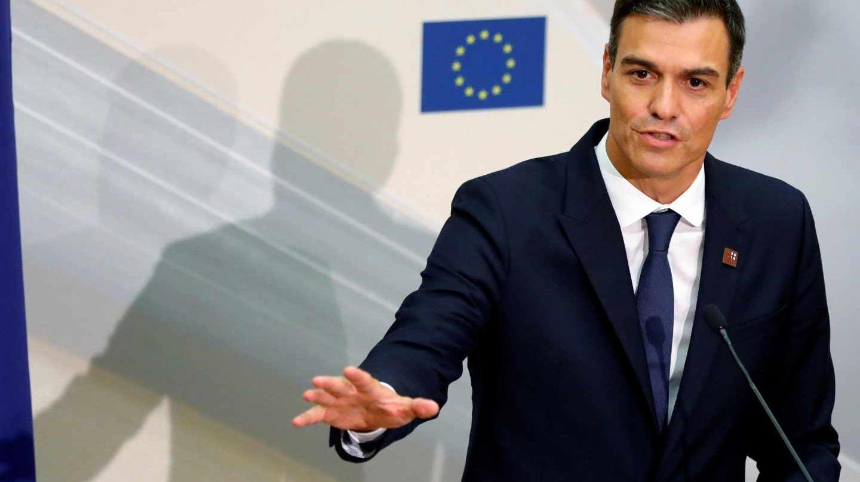 Pedro Sánchez, este viernes, tras la cumbre de la UE en Austria.