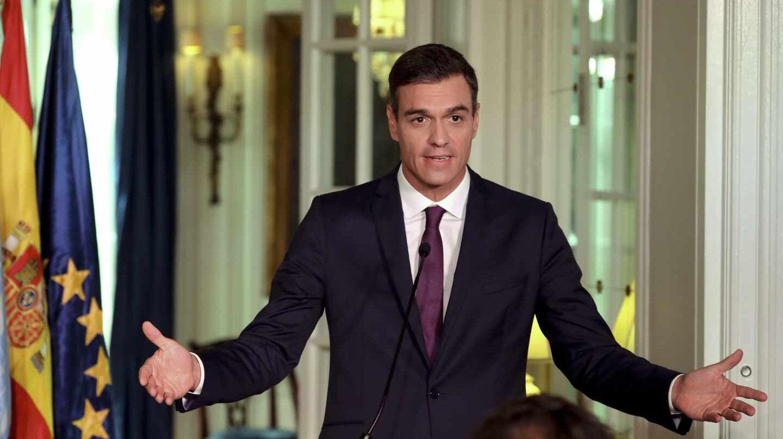 Pedro Sánchez, durante su comparecencia de este miércoles.