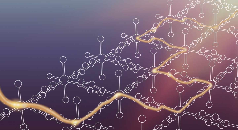 Esquema del nuevo material 2D de pirazina
