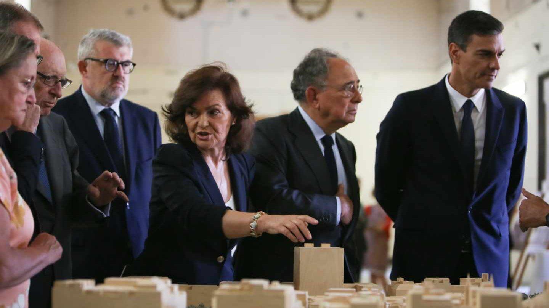 Carmen Calvo y Pedro Sánchez en el Museo del Prado.