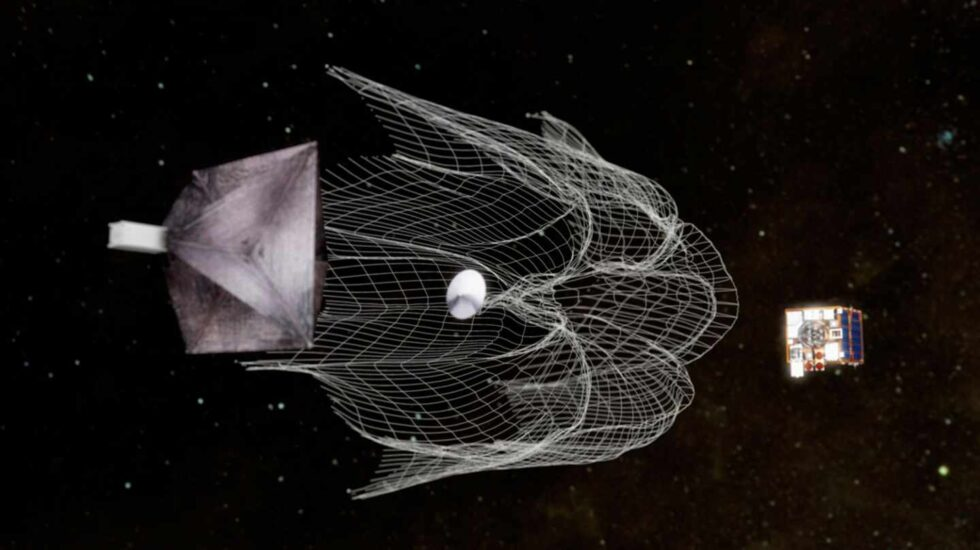 Red para atrapar basura espacial