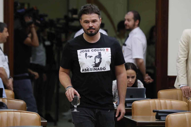 El diputado de ERC ,Gabriel Rufián.