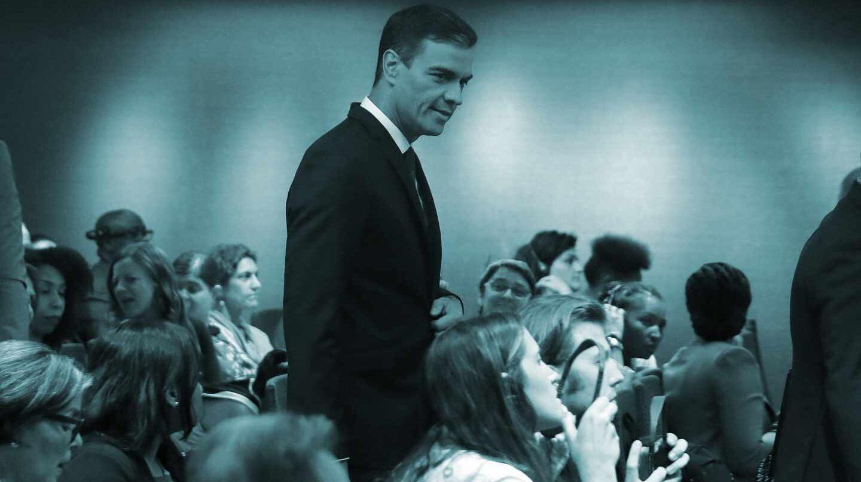 Pedro Sánchez, a su llegada a un acto en Naciones Unidas, en Nueva York.