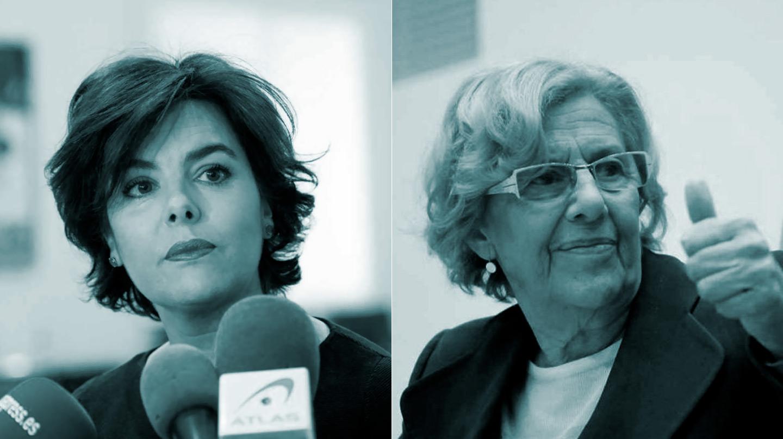 Soraya Sáenz de Santamaría y Manuela Carmena