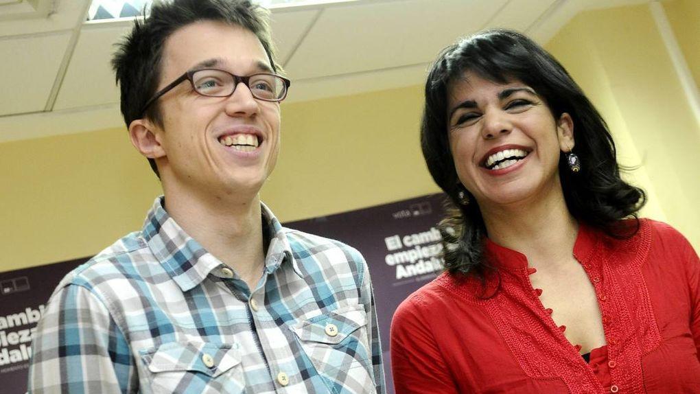 Iñigo Errejón y Teresa Rodríguez, juntos en 2016.