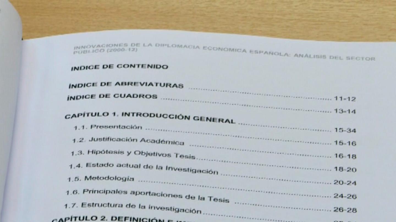Índice de la Tesis Doctoral de Pedro Sánchez