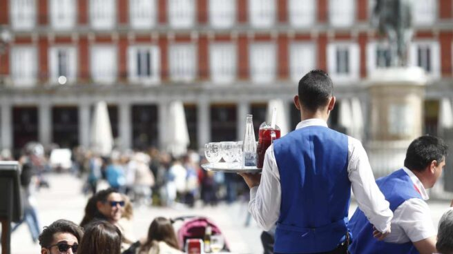 Trabajador de la hostelería en Madrid.