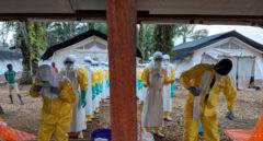 Centro de tratamiento del ébola en Mangina (República democrática del Congo).