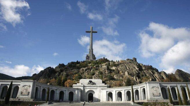Vista fronta de la basílica del Valle de los Caídos, donde está enterrado Franco.