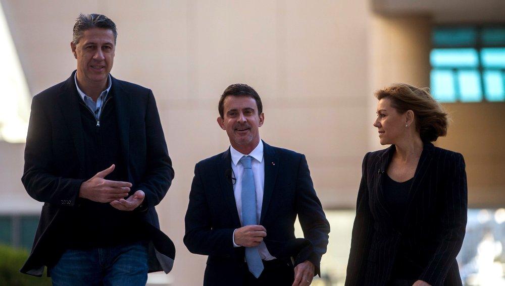 Valls junto a Cospedal y Albiol en un acto del PP